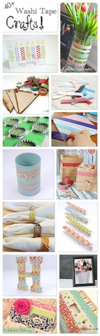40+ Washi Tape Crafts - OPC The Better Half #washitape