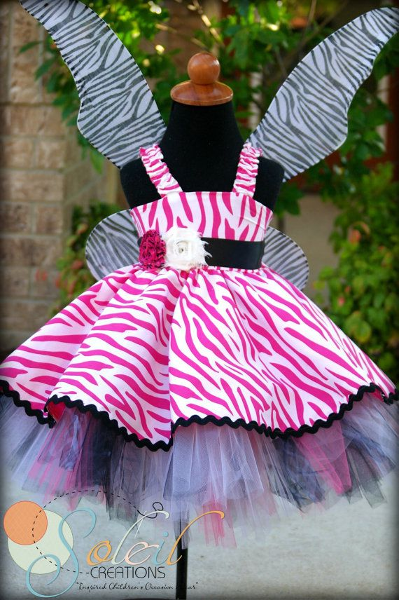 Party Girl Dress In White & Pink Zebra ~ I want one...No, really, I do!!!