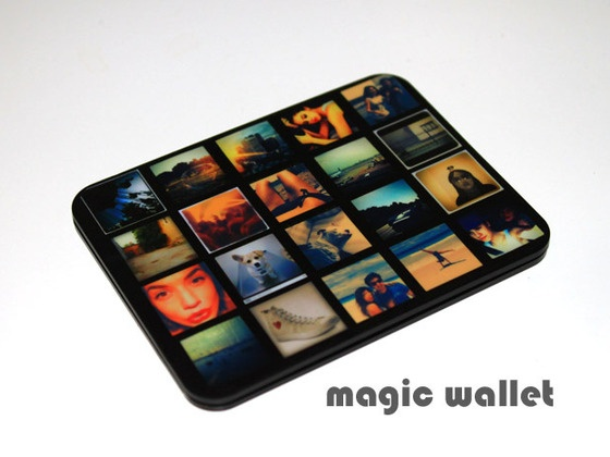 The Magic Wallet. Slim and Unique Design. RFID protection. by Tim Rich, via Kickstarter.  Incredibly Thin Aluminium Wallet for Many International Bills with Your Custom Design, Carbon Fiber or Natural Leather base.