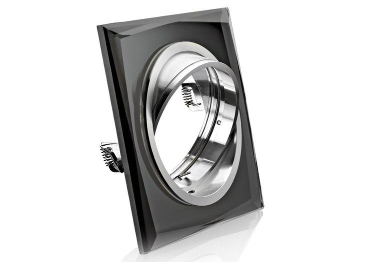 Einbaustrahler AR111 / ES111 aus Kristallglas Schwarz Rund
