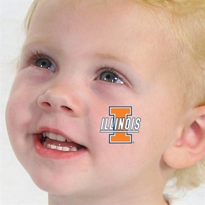 Illinois Fighting Illini 4-Pack Waterless Temporary Tattoos -