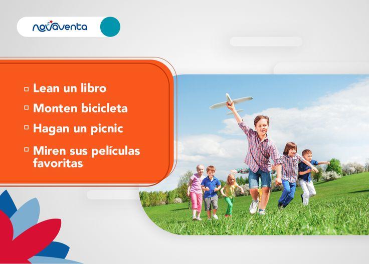 ¡Llena de sonrisas a tus hijos en vacaciones! 😁 Te recomendamos algunos planes,¿cuál es tu favorito? 😍 ¡Déjanos tu comentario! 👇#NovaTips