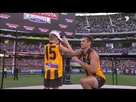 'You're my hero' (Boy Tells Luke Hodge) - AFL Grand Final 2014
