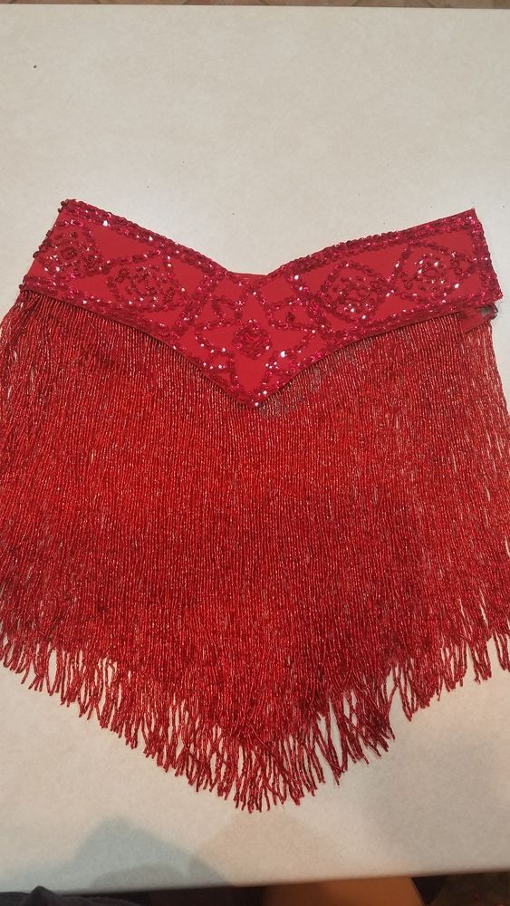 2d03b6ef Red Sequin and Fringe Beaded Belt Bellydance Small/medium #fashion  #clothing #shoes #accessories #dancewear #adultdancewear (ebay link)