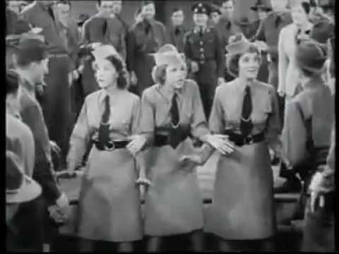 "The Andrews Sisters' - Boogie Woogie Bugle Boy Of Company B  From the 1941 Bud Abbott and Lou Costello film, ""Buck Privates"" ~"