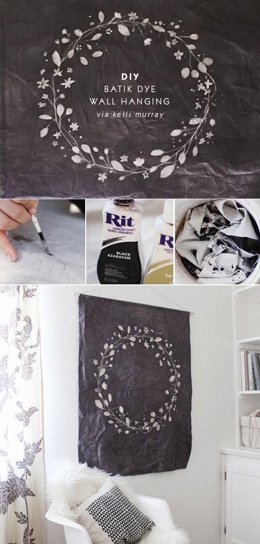 DIY Batik Dye Wall Hanging