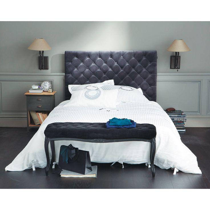 les 25 meilleures id es concernant lit capitonn sur. Black Bedroom Furniture Sets. Home Design Ideas