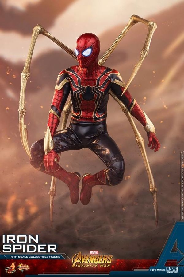 Avengers Infinity War 1 6th Scale Iron Spider Figure From Hot Toys Marvel Iron Spider Spiderman Marvel Spiderman