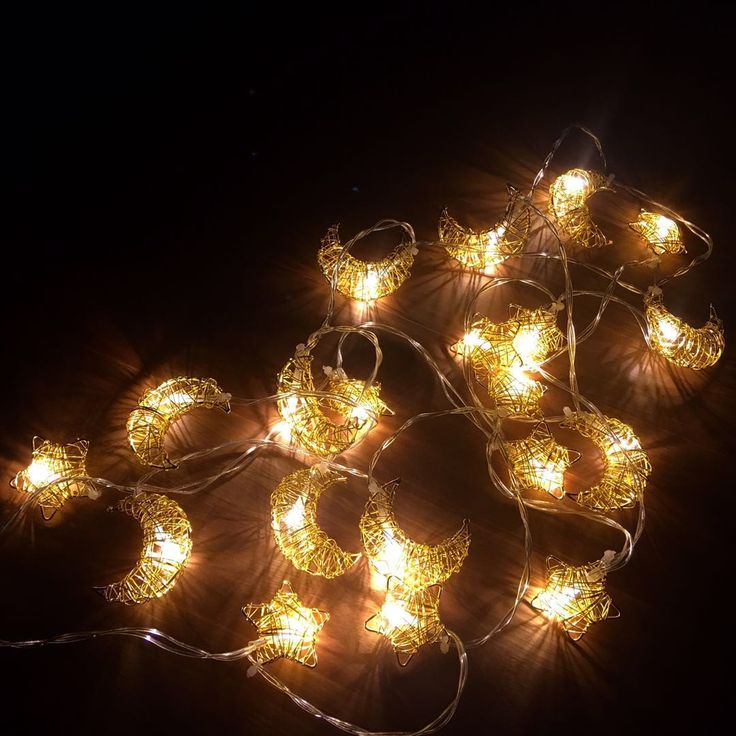 EurekaElements moon and star handmade metal string lights set for kids bedroom decoration, nursery room wall decor, available on amazon, click visit or link: https://amazon.com/dp/B07787L2G6