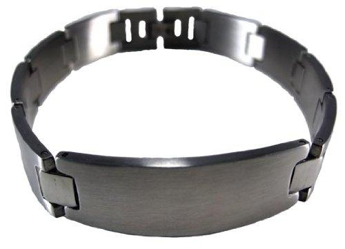 Matte Finish Stainless Steel ID Bracelet Mens
