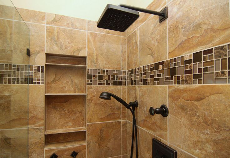 """You can sing in the """"rain"""" with this nice shower head. Also installed was a removable shower head to make this shower even more perfect."""