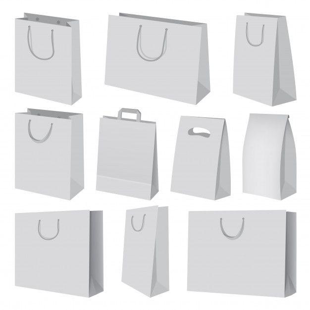 Download Paper Bag Mockup Set Realistic Illustration Of 10 Paper Bag Mockups For Web Bag Mockup Paper Bag Vector Free