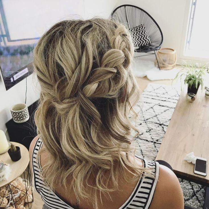 Ready for wedding party ✨  latergram  wedding  weddinghair  weddinginspiration  weddingguest  hair  hairstyle  haircut  hairstylist  wavy  braids  b...