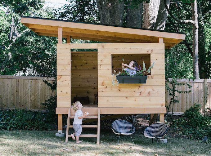 Best 25 modern playhouse ideas on pinterest modern kids for Big kid playhouse