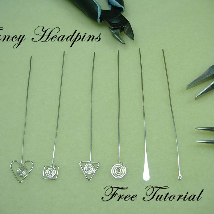 How to make your own headpins. #wire #jewelry #tutorial