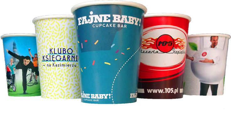 rainbow cups customized branded disposable paper cups