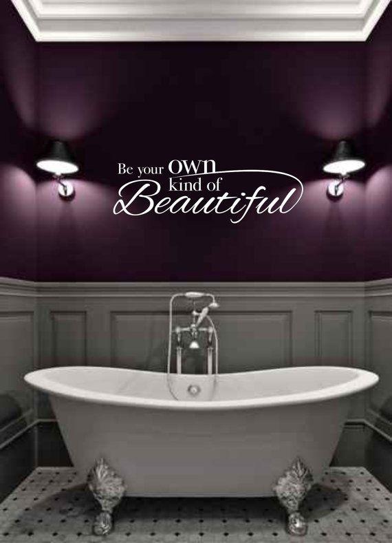 Dark purple bathrooms