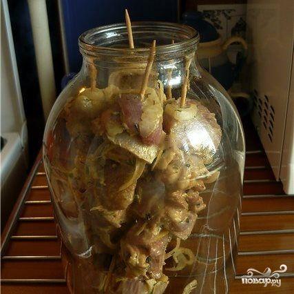 Шашлык в духовке в банке - пошаговый кулинарный рецепт с фото на Повар.ру