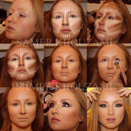 Highlighting - #beforeandafter #makeup #contouring #makeuptechnique #makeuptutorial - bellashoot.com