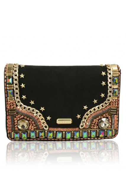VIDA Leather Statement Clutch - BLASCHICINC GOLDDUST by VIDA WnaOTra