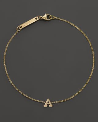 Zoë Chicco 14K Yellow Gold Initial Bracelet | Bloomingdale's