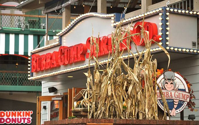 Enjoy a variety of shrimp at Bubba Gump Gatlinburg