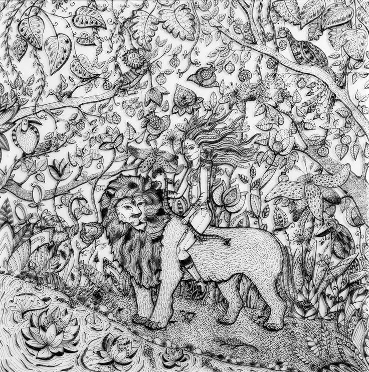 Mari Veselaya #MariVeselaya #Artist #Art #Doodling #Glass #Fantasy Рисунок на стекле ( 40х40 см )