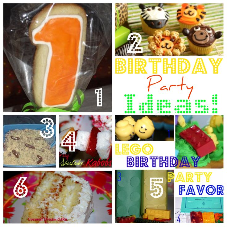 HOT Birthday Party Ideas & Recipes for cupcakes, cookie pops, Kitty Litter cake, LEGO party ideas, Coconut Cream Cake and Strawberry Short cake Kabobs!