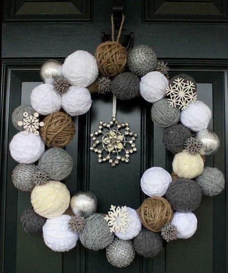 Los colores neutros como el gris, el blanco, los crudos y los tostados son tendencia en decoración de Navidad 2014 #tendencias #decoracion #Navidad