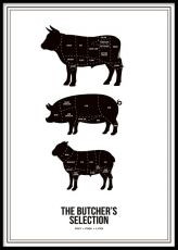 Butchers selection, poster