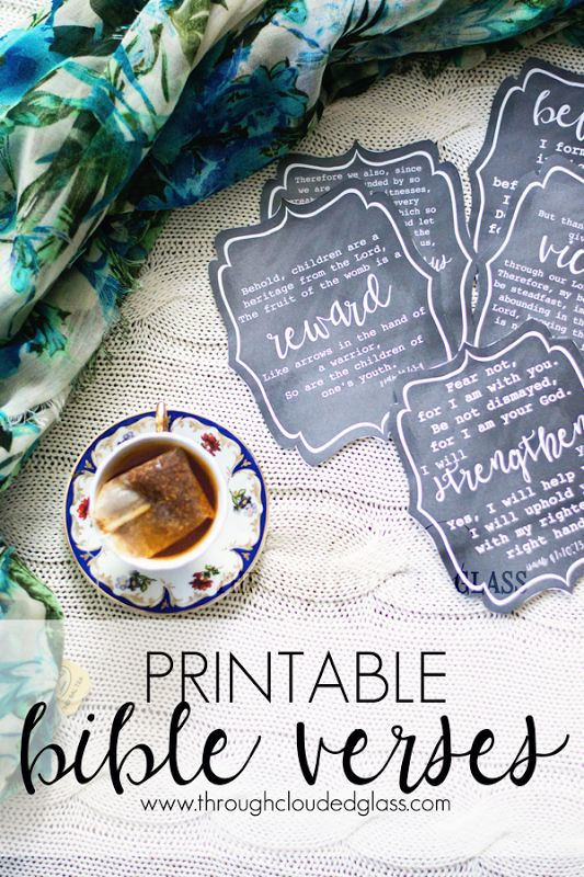 Printable Bible Verses | Through Clouded Glass