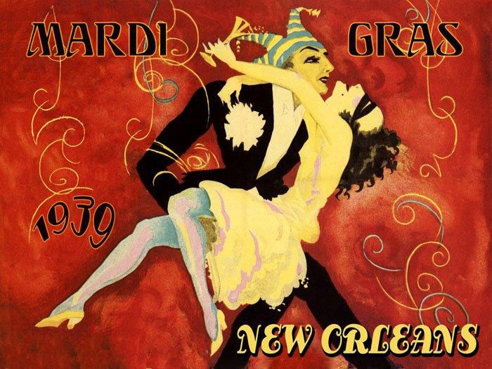 Vintage Mardi Gras Posters | Mardi Gras Carnival Season 1939 New Orleans Fine Vintage Poster Repro ...