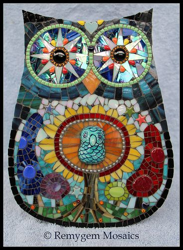 Tree of Life Mosaic Owl by Remygem Mosaics ...........click here to find out more http://googydog.com P.S. PLEASE FOLLOW ME IN HERE @Yulia Bekar Bekar Bekar Bekar watson