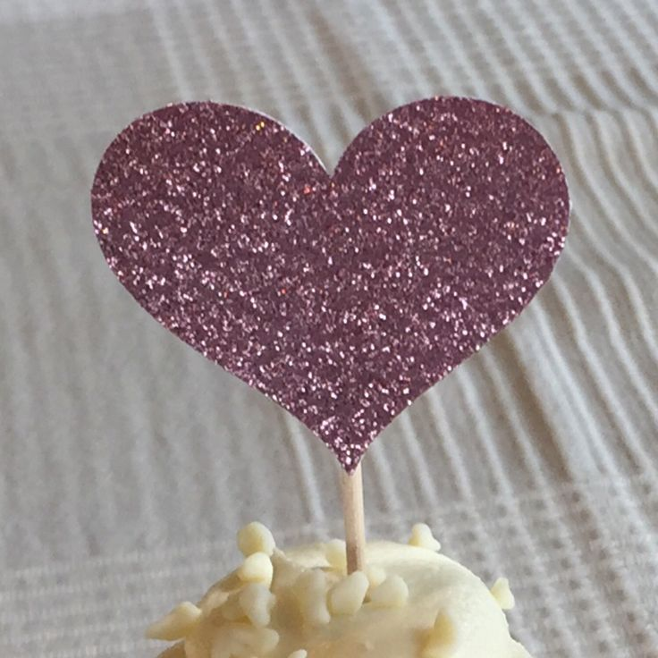 A personal favorite from my Etsy shop https://www.etsy.com/listing/210919977/12-blush-pink-heart-cupcake-toppers