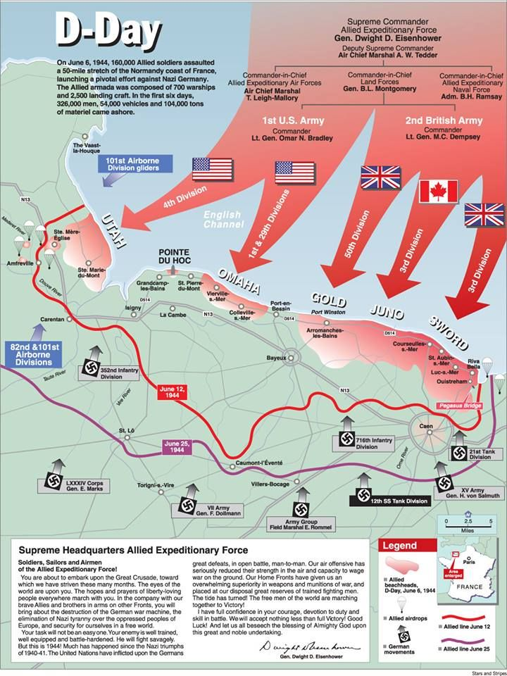 On June 6, 1944, 160,000 Allied soldiers assaulted a 50-mile stretch of the Normandy coast of France.