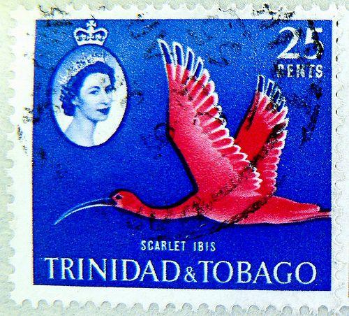 wonderful stamp Trinidad & Tobago 25c Scarlet Ibis postage 25 cents Queen Elizabeth postzegels Trinidad en Tobago timbres Trinité-et-Tobago sellos Trinidad y Tobago bolli francobollo 邮票 千里達 марки Тринидад и Тобаго  千里達及托巴哥