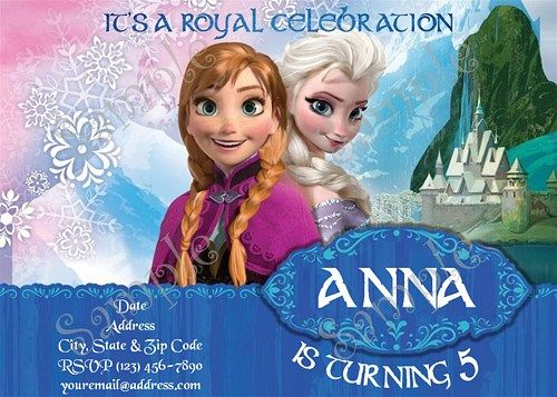 Free Disney Frozen Birthday Invitations ~ Best frozen birthday party ideas images free