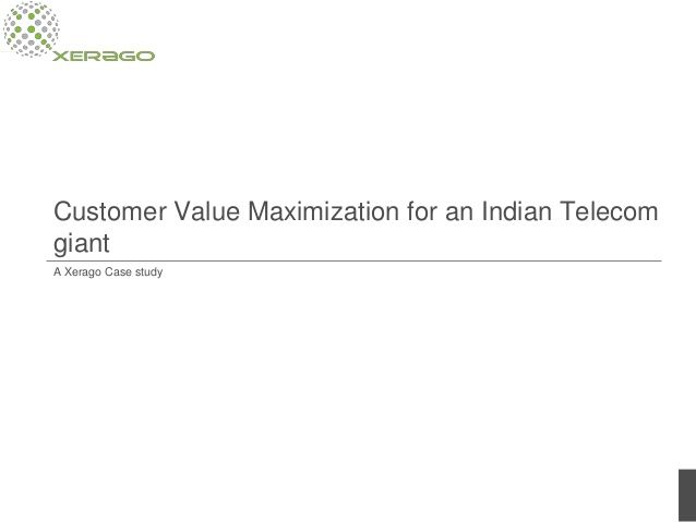 With competition in the Indian telecom industry being very intense, brands need to constantly ensure that their existing customers are retained and not lost to competitors. Xerago's client wanted a solution to minimize churn. With Customer Value Maximization, they enjoyed a significant reduction in attrition. Here's how. http://www.slideshare.net/xerago/minimizing-churn-in-telecom-with-customer-value-maximization