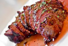 Flat iron steak in crockpot. Honey and BBQ sauce & garlic . Cook on low for 2.5 hours.