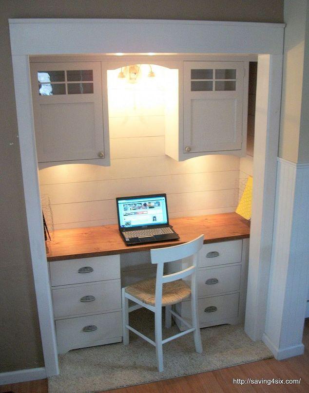 Fantastic 17 Best Ideas About Closet Turned Office On Pinterest Closet Largest Home Design Picture Inspirations Pitcheantrous