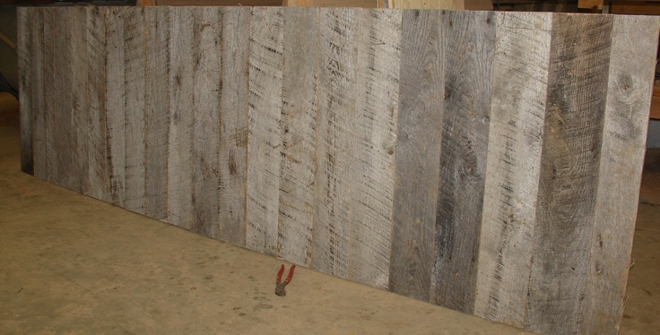 Rustic Wall Paneling ~ Reclaimed grey barnwood wall panels weathered rustic
