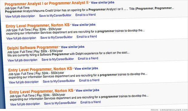 Colleges use spiders search help wanted ads to get grads hired - programmer job description