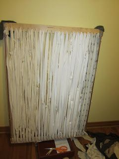 These are the best instructions that I have found for this loom rug. Simply Resourceful: How to Make a Rag Rug.