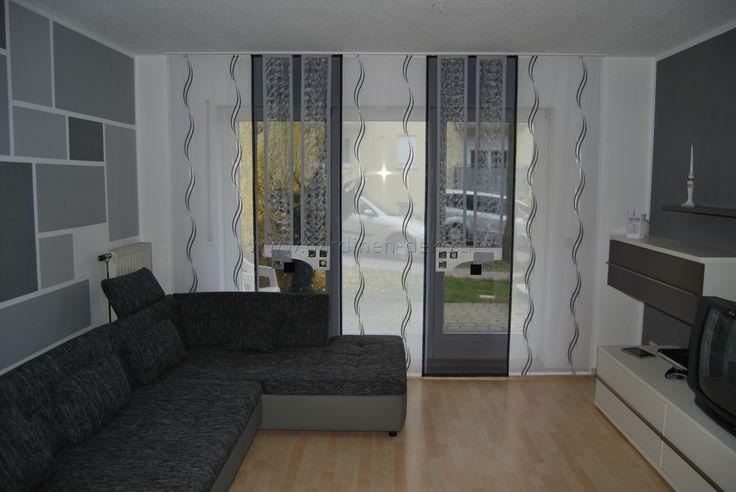 Wellen Schiebevorhang fürs Wohnzimmer mit Doppelnetz Elementen ...