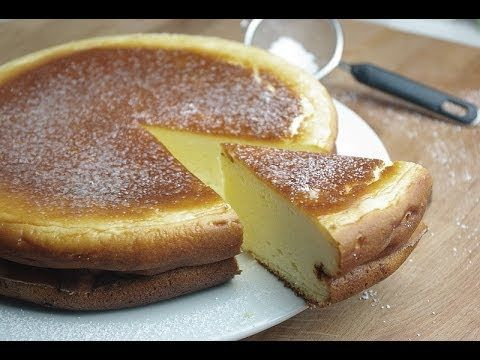 Gâteau au fromage - French Cheesecake using corn flour and fromage blanc (similar to quark)