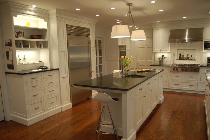 Kitchen Delightful Refacing Kitchen Cabinets Looks So Modern Kitchen Island Interior Used Marble Countertop Above Laminate Wood Flooring Under Chandelier Having the Refacing Kitchen Cabinets