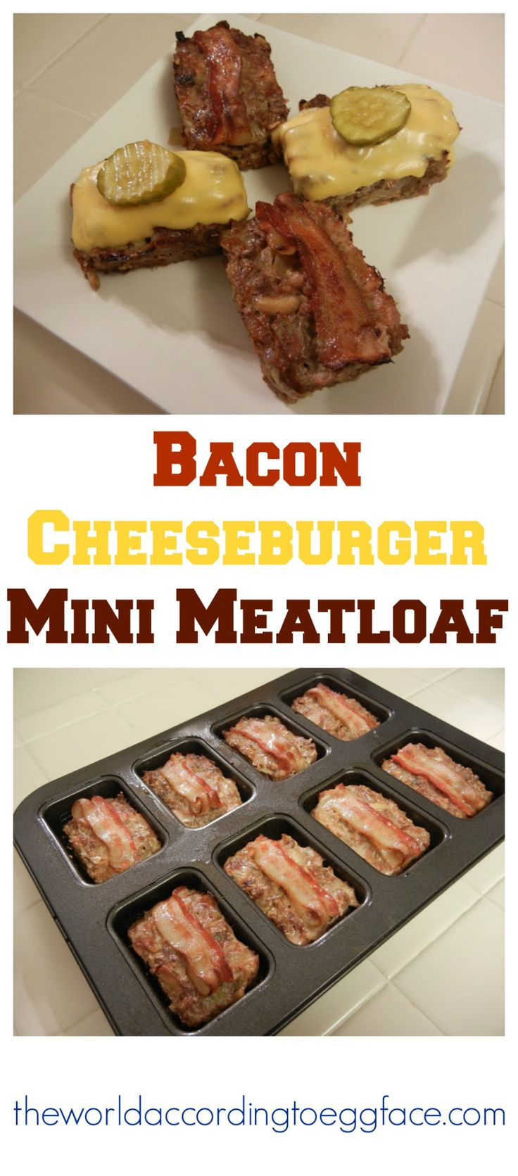 Bacon Cheeseburger Mini Meatloaves Meatloaf - Low Carb High Protein Weight Loss Surgery Friendly Recipes