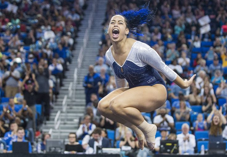 Sophina DeJesus' floor routine helped UCLA win, and it also made her go viral.