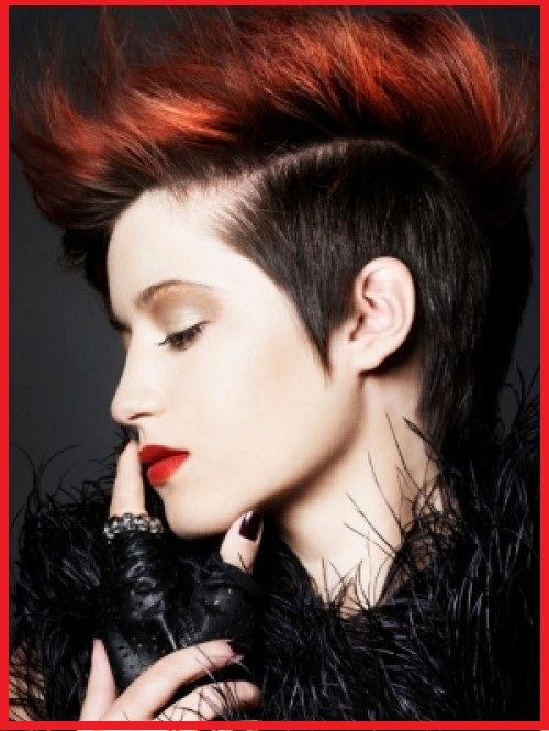 i like this color combo - red on top, my natural black on the sides