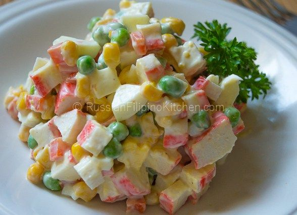 Russian Crab and Corn Salad 10
